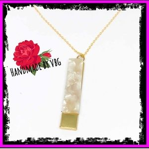 🆕 Marble Stamped Gold Totem Pendant Necklace